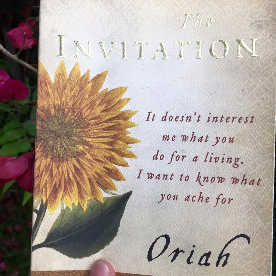 The Invitation, a book I discovered through Synchronicity.